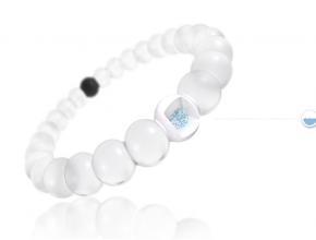 Lokai White Bead