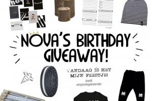 Nova's Birthday GIveaway
