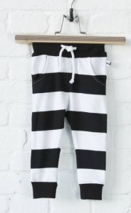 lucky no. 7 broekje zwart wit