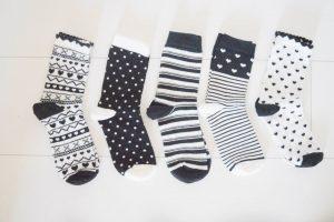 Monochrome sokken
