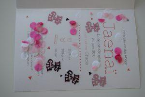 Confetti in je geboortekaartje