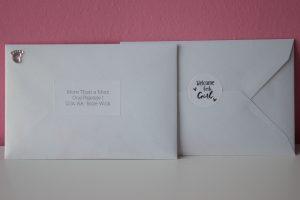 Envelop geboortekaart