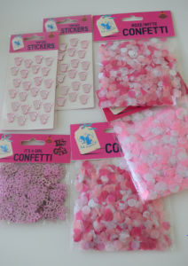 Geboortekaartje met confetti