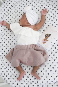 J. met haar geboortekaartje