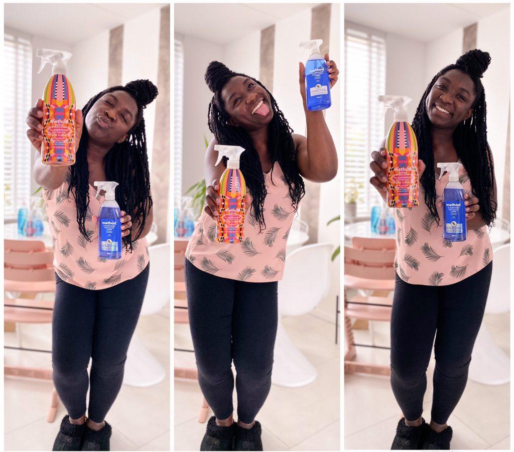 Method: joyful poetsen met milieuvriendelijke schoonmaakmiddelen